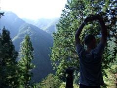 大陽寺から眺める山々