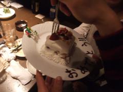 懇親会のバースデーケーキ