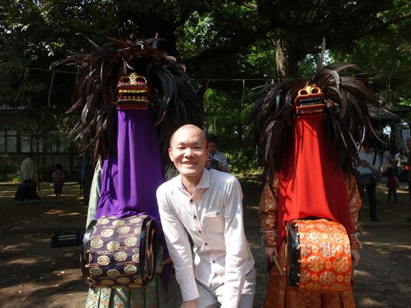 長崎神社の獅子舞