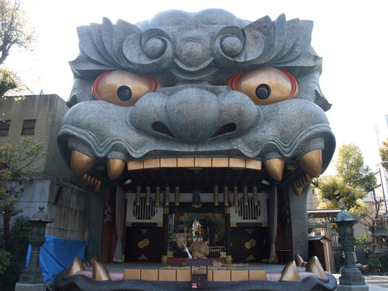難波八阪神社の獅子